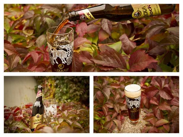Glückauf Bier Bockbierglas 2012