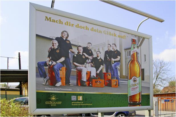 Plakatfläche Besucherparkplatz Glückauf Brauerei Gersdorf