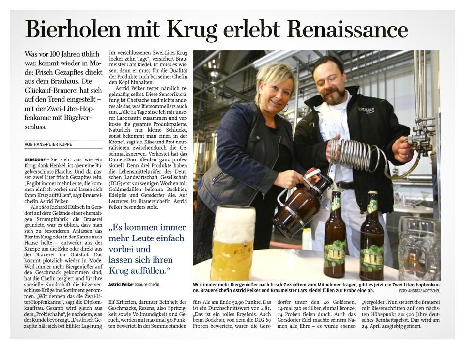 Bierholen mit Krug erlebt Renaissance
