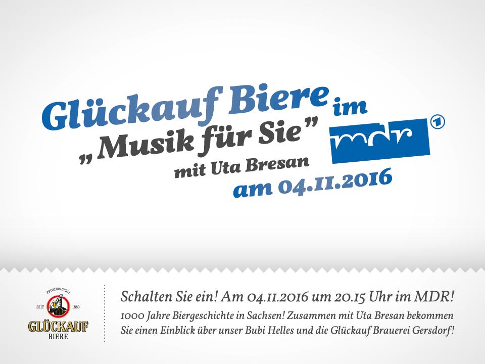 Glückauf Brauerei Gersdorf - MDR Beitrag am 04.11.2016