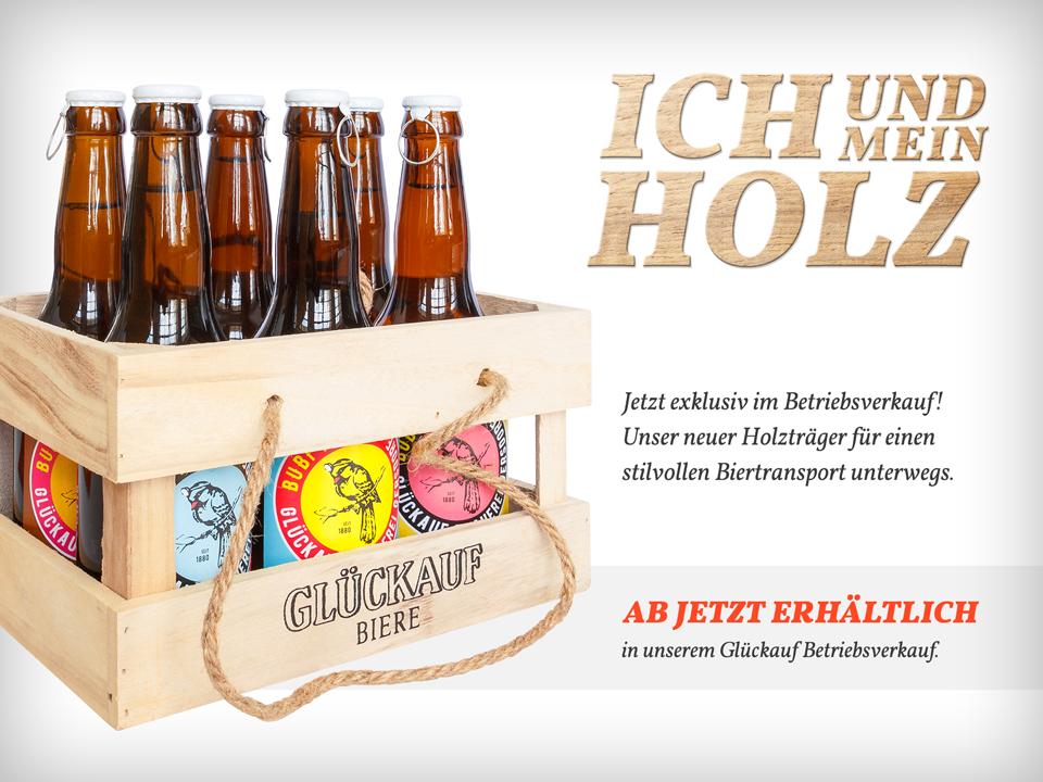 Holzträger – Glückauf Biere