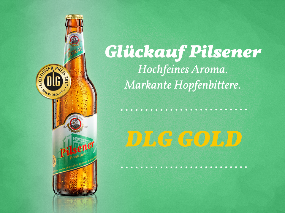 DLG-GOLD für Glückauf Pilsener