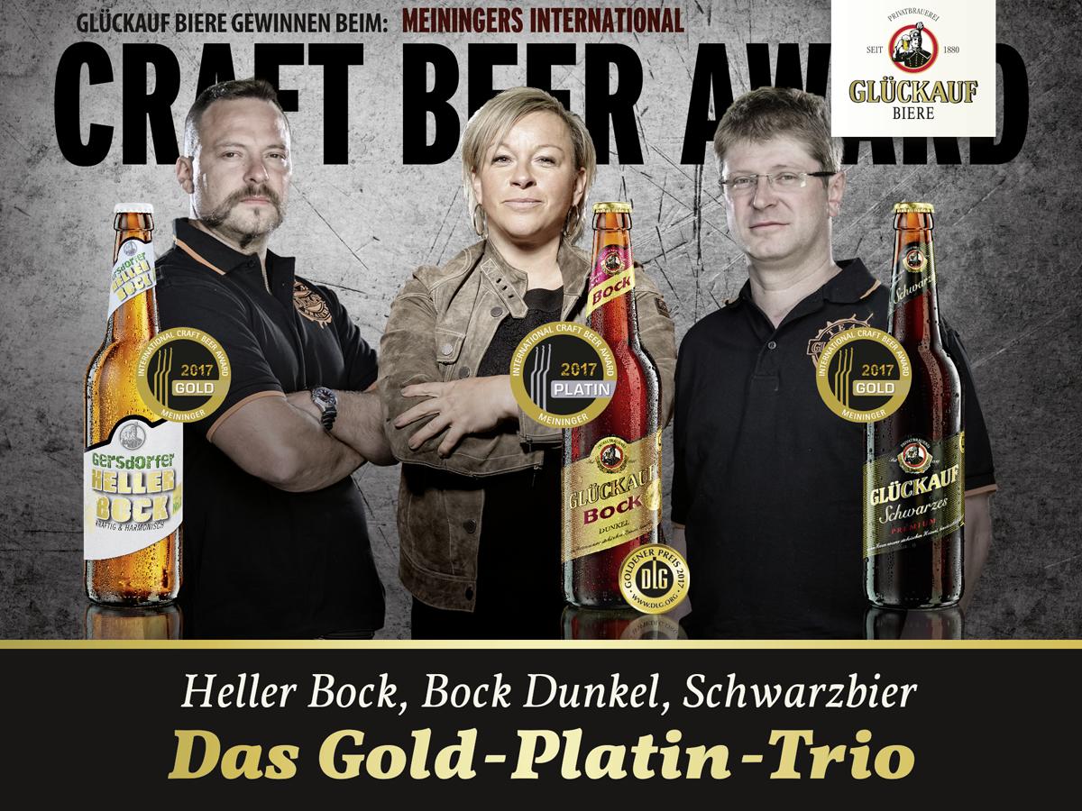Glückauf Biere gewinnen beim Craft Beer Award 2017