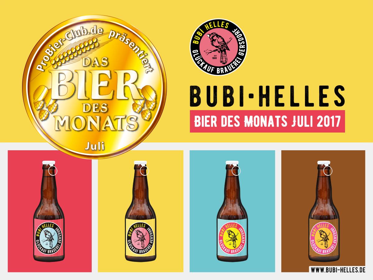 Bubi Helles – Bier des Monats Juli 2017