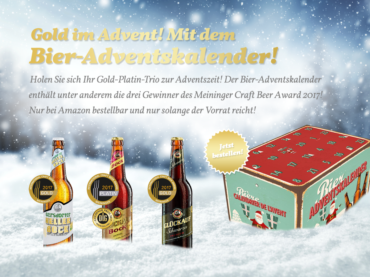 Gold im Advent! Mit dem Bier-Adventskalender!