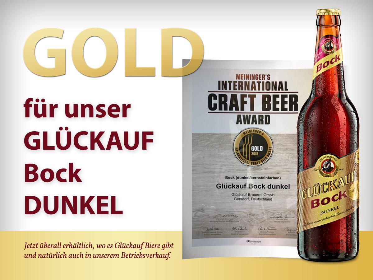 Gold für Glückauf Dunkler Bock!