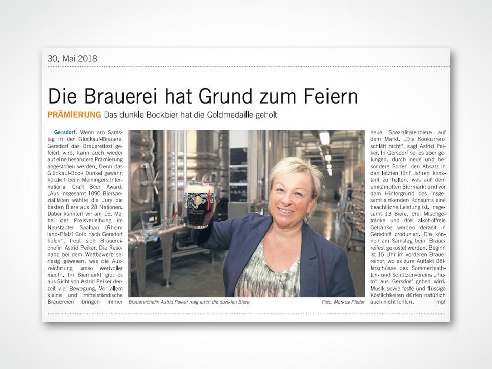 Brauereichefin Astrid Peiker mag auch die dunklen Biere.