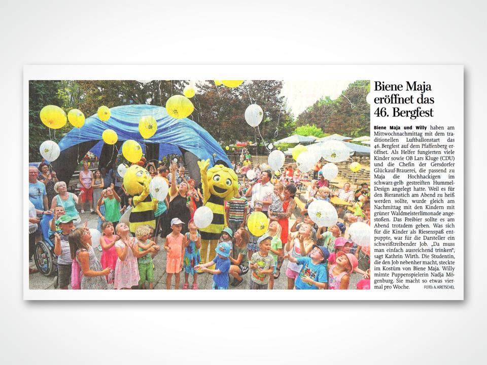 Biene Maja eröffnet das 46. Bergfest