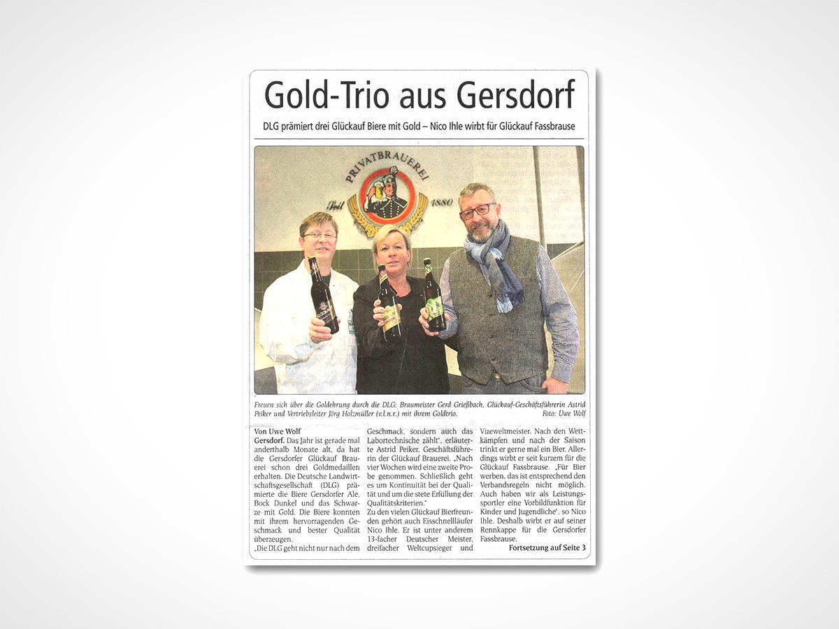 Gold-Trio aus Gersdorf