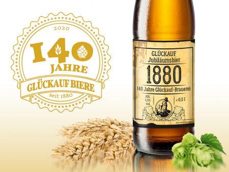 140 Jahre Glückauf Brauerei, <br>unser Jubiläumsbier …