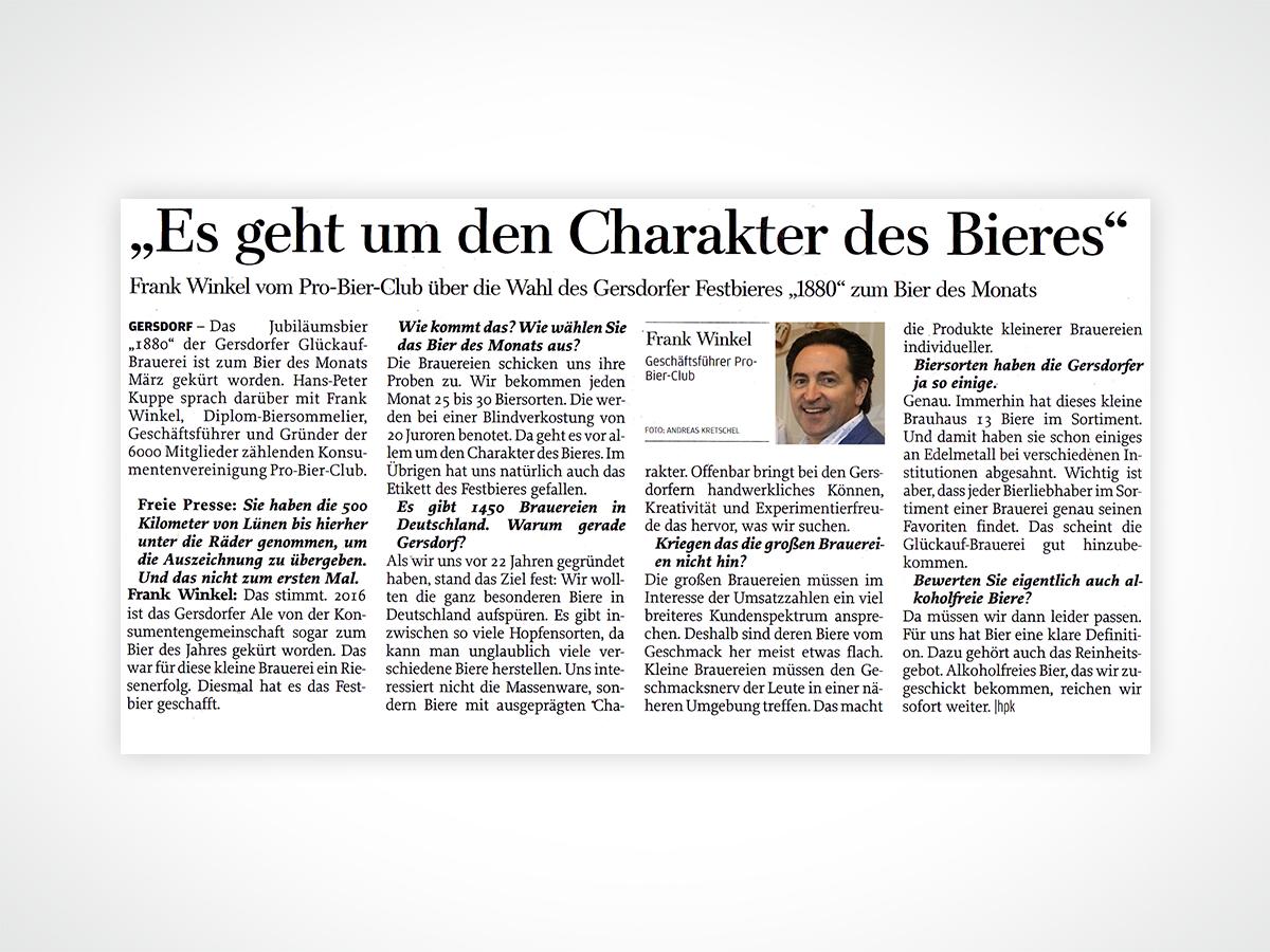 Frank Winkel - Geschäftsführer Pro-Bier-Club