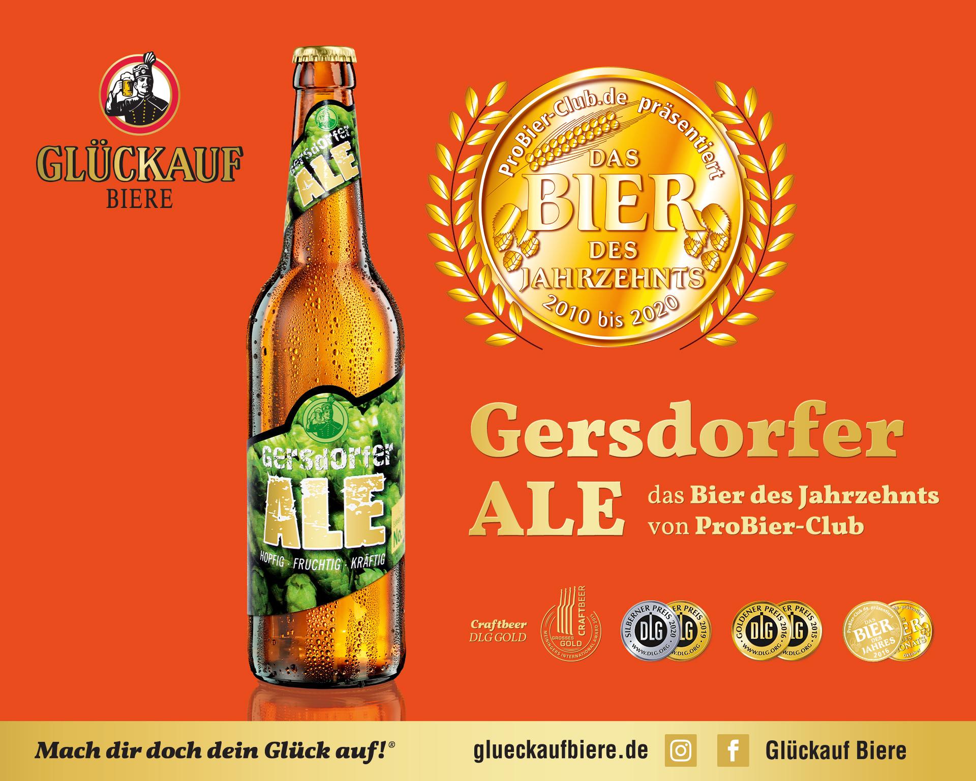 GERSDORFER ALE - Bier des Jahrzehnts